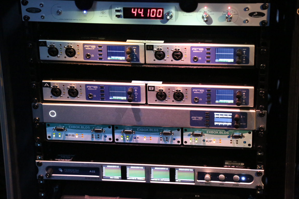 RME and Ferrofish in the rack