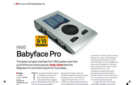 RME Babyface Pro Review - Synthax Audio UK