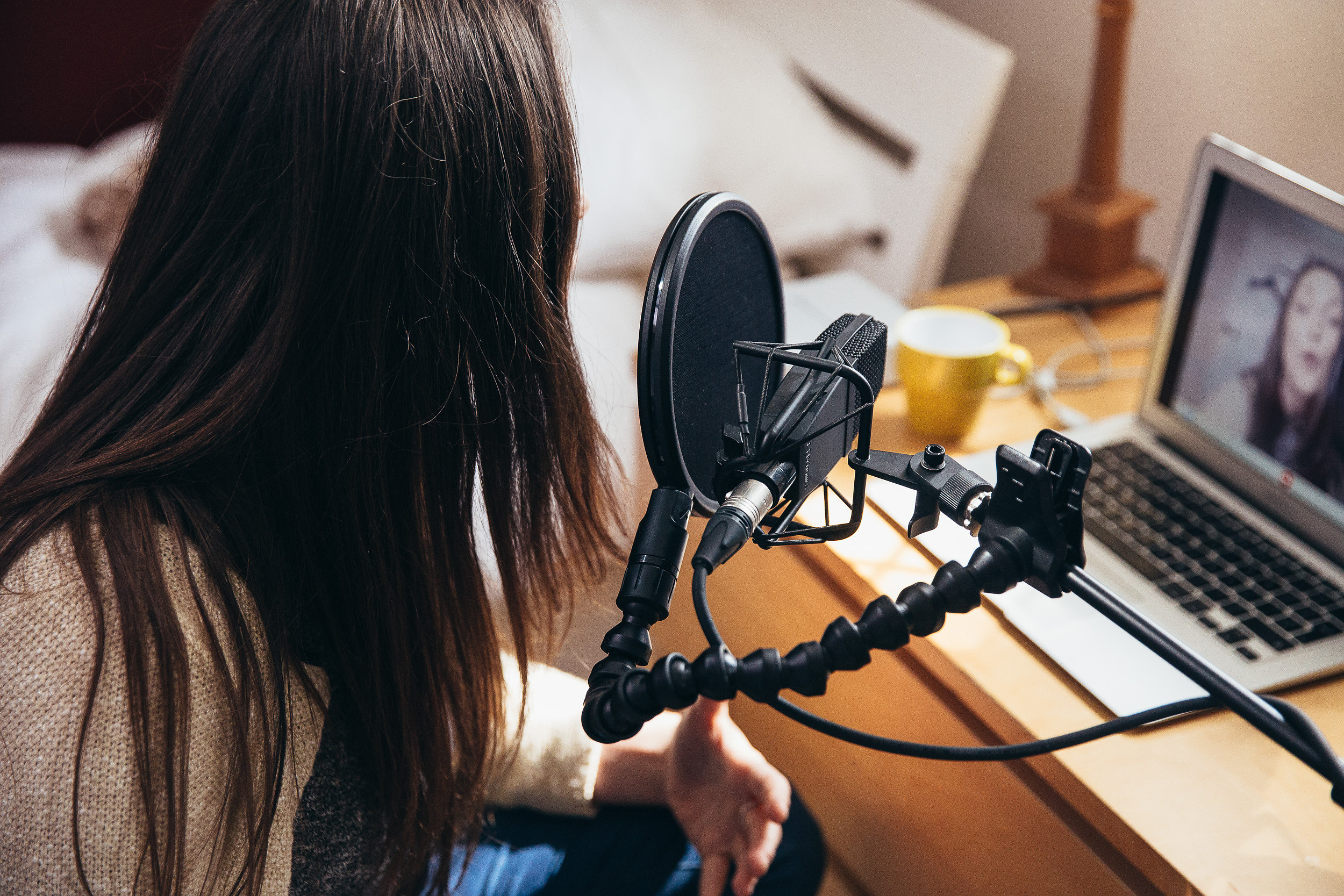 Pop shields are great for video bloggers and voice over artists too