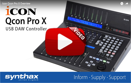 Icon Qcon Pro X Feature Image - Synthax Audio UK