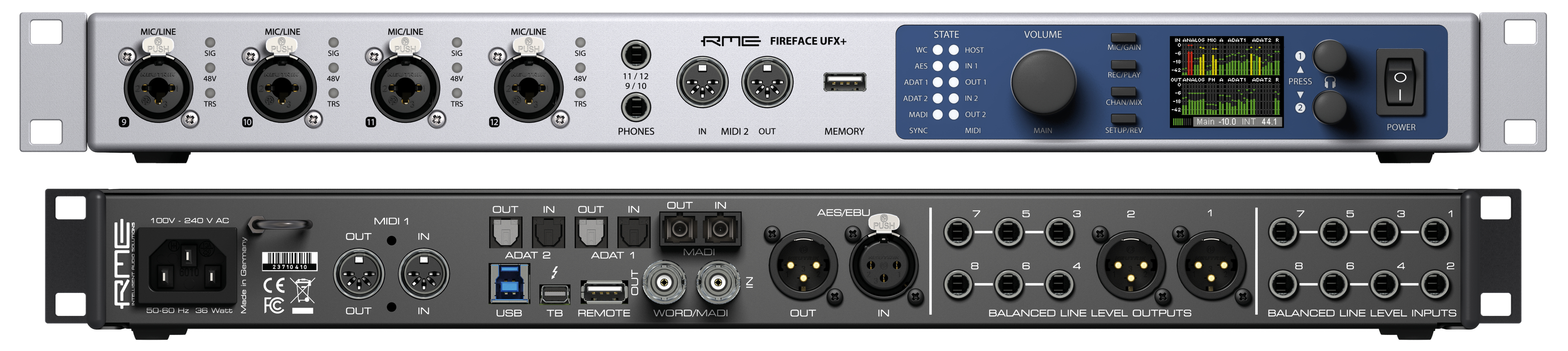 RME_Fireface_UFX+_Front_Back - 01 - Synthax Audio UK
