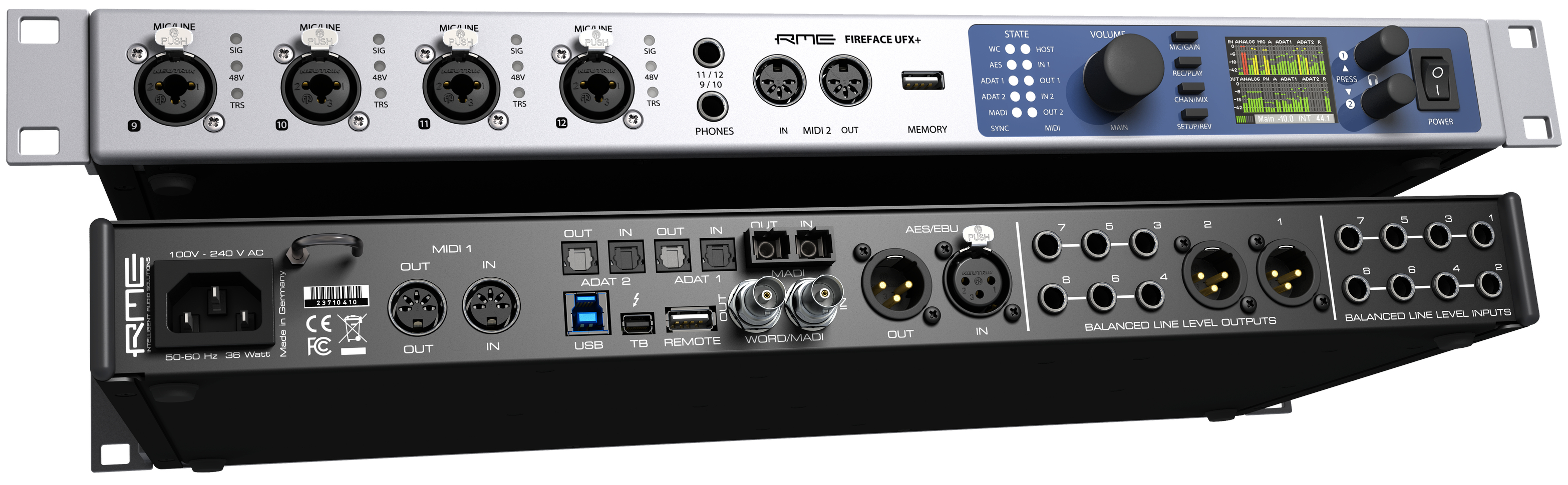 RME_Fireface_UFX+_Front_Back - Synthax Audio UK