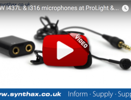 MicW i437L & i316 Microphones at Musikmesse Video - Synthax Audio UK