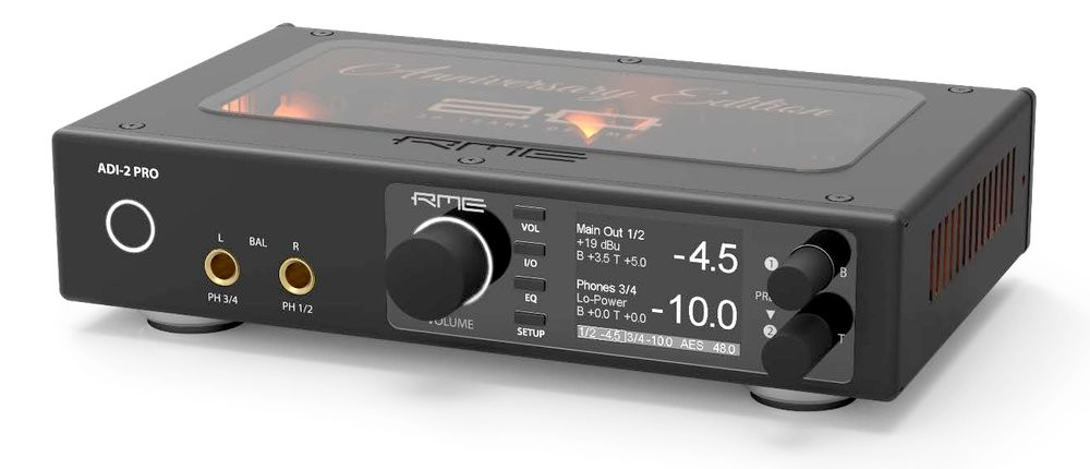 RME ADI-2 Pro Anniversary Edition - AE - Angle Closeup - Synthax Audio UK