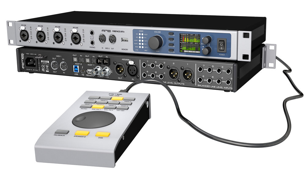 RME ARC USB connected to the RME Fireface UFX+ - Synthax Audio UK