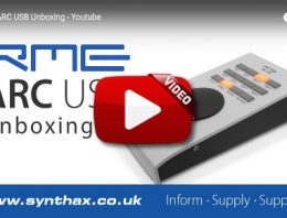RME ARC USB unboxing video - Synthax Audio UK