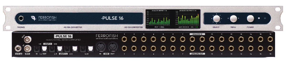 Ferrofish Pulse 16 - ADDA Converter - Synthax Audio UK