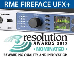 RME Fire4face UFX+ Resolution Magazine Nomination