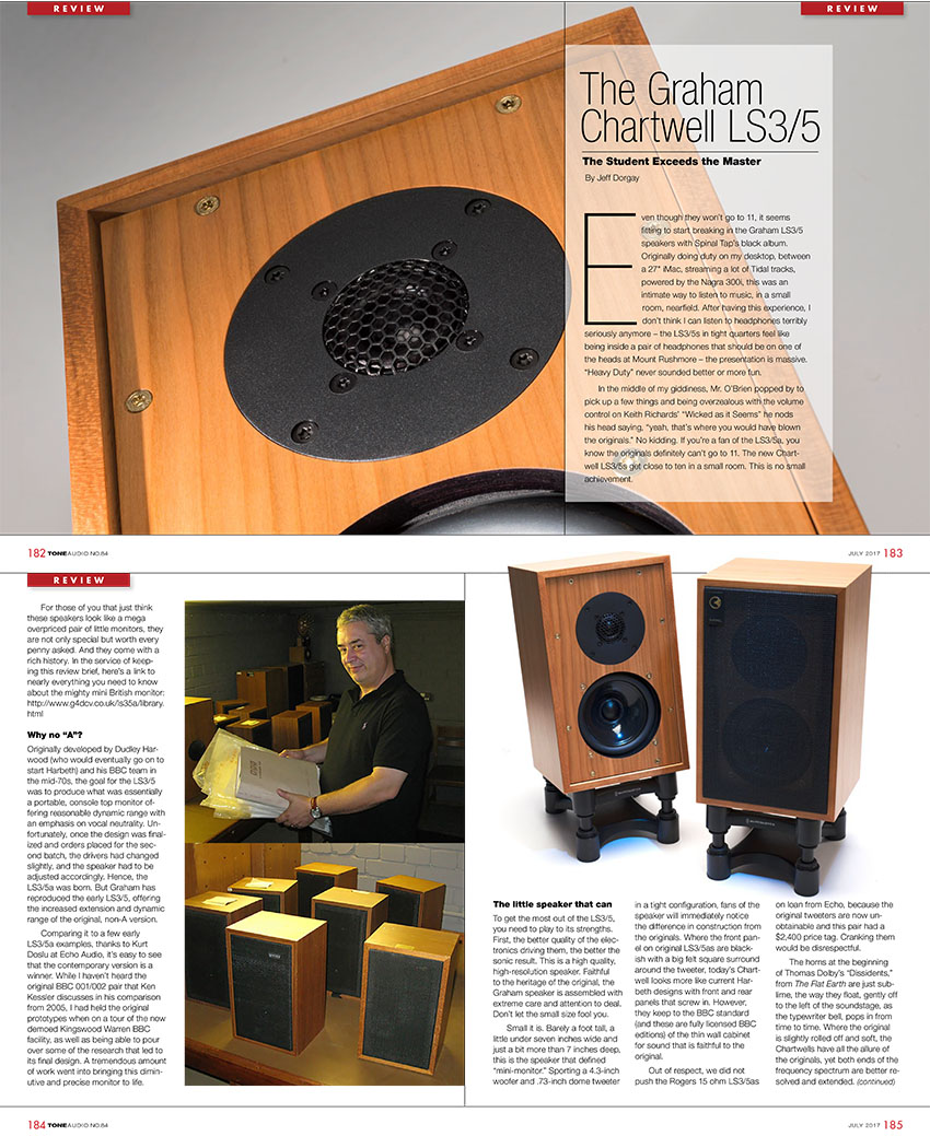 Graham Audio LS35 Review - Tone Audio - Synthax Audio UK