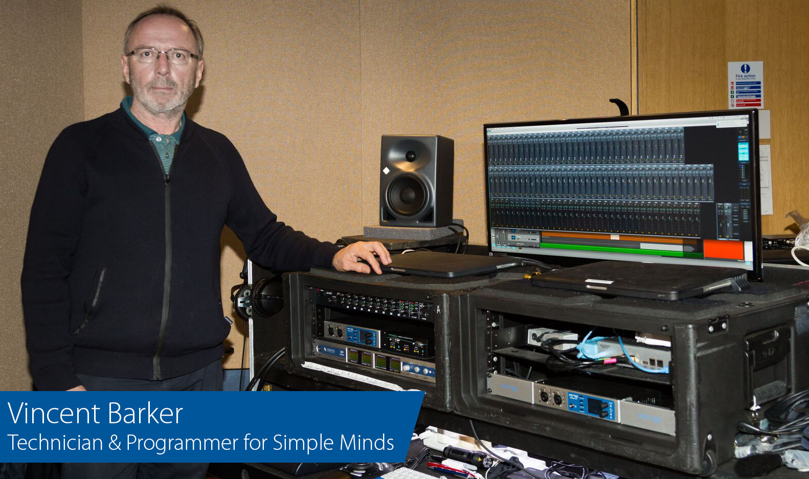 Vincent Barker - Tech and Programmer for Simple Minds - Synthax Audio UK