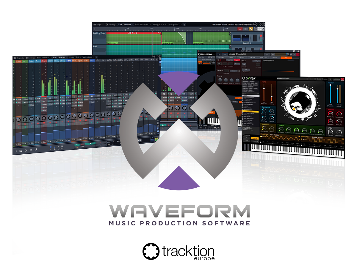 Tracktion Waveform - Synthax Audio UK