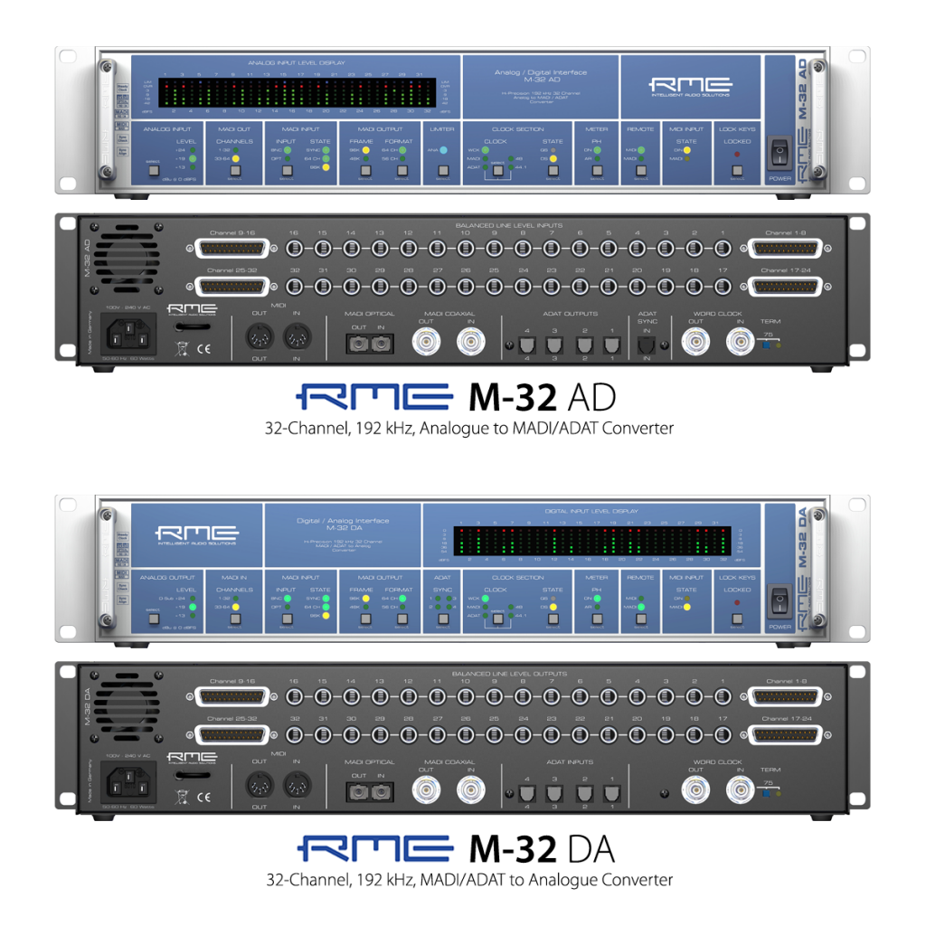 RME M-32 AD and M-32 DA Converters - Synthax Audio UK