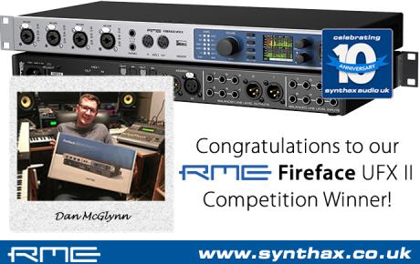 RME Fireface UFX II - Dan McGlynn - Competition Winner - 03