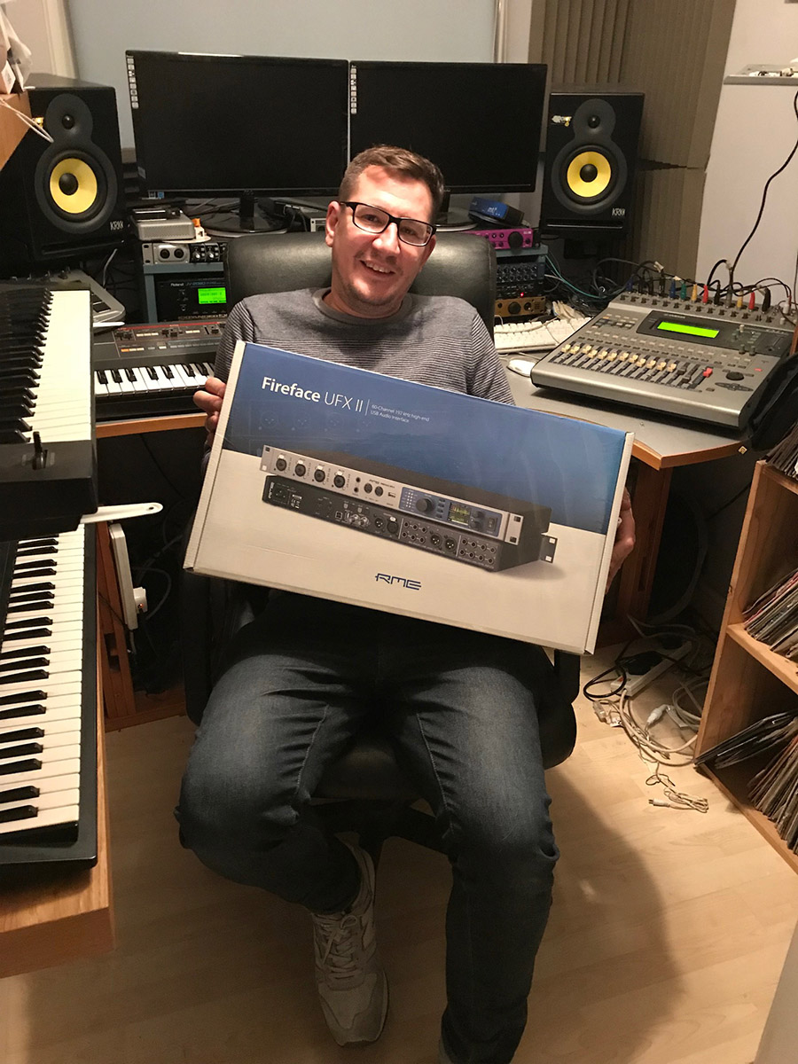 RME Fireface UFX II - Dan McGlynn - Competition Winner - Synthax Audio UK