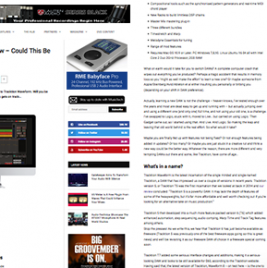 Tracktion Waveform Review By MusicTech - News Image - Synthax Audio UK