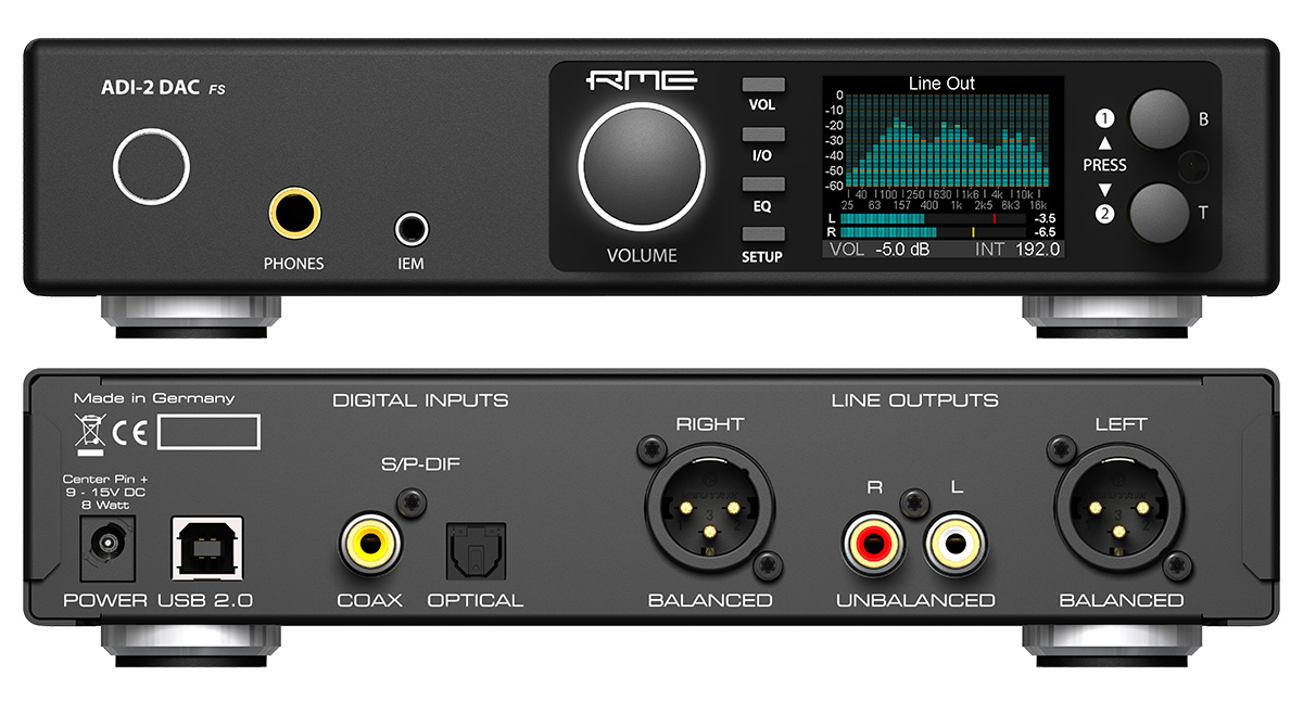 RME ADI-2 DAC - Front And Back Panels - Synthax Audio UK.png