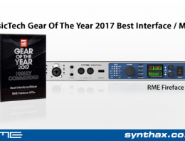 RME Fireface UFX+ Wins Highly Commended Award - Music Tech 2017 - Synthax Audio UK