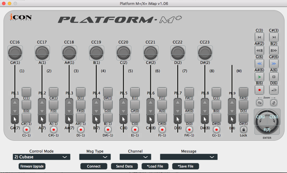 Icon Platform M+ iMap Software - Synthax Audio UK