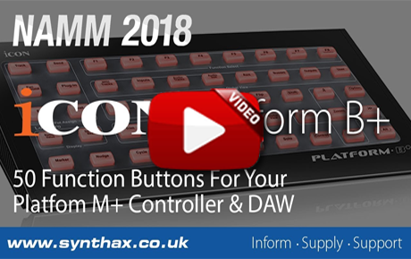 NAMM 2018 - Icon Platform B+ & OneHub Video - Synthax Audio UK