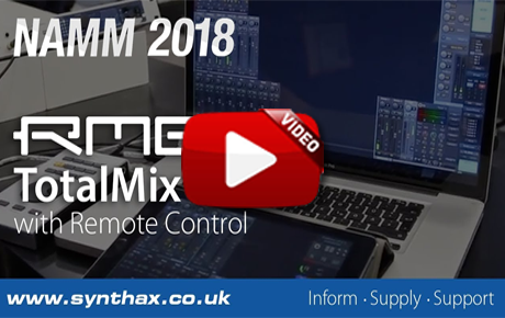 RME TotalMix FX v1.50 & TotalMix Remote - NAMM 2018 Video