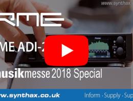 RME ADI-2 DAC video - Musikmesse 2018