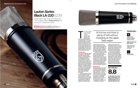 Lauten Audio LA-220 review by FutureMusic
