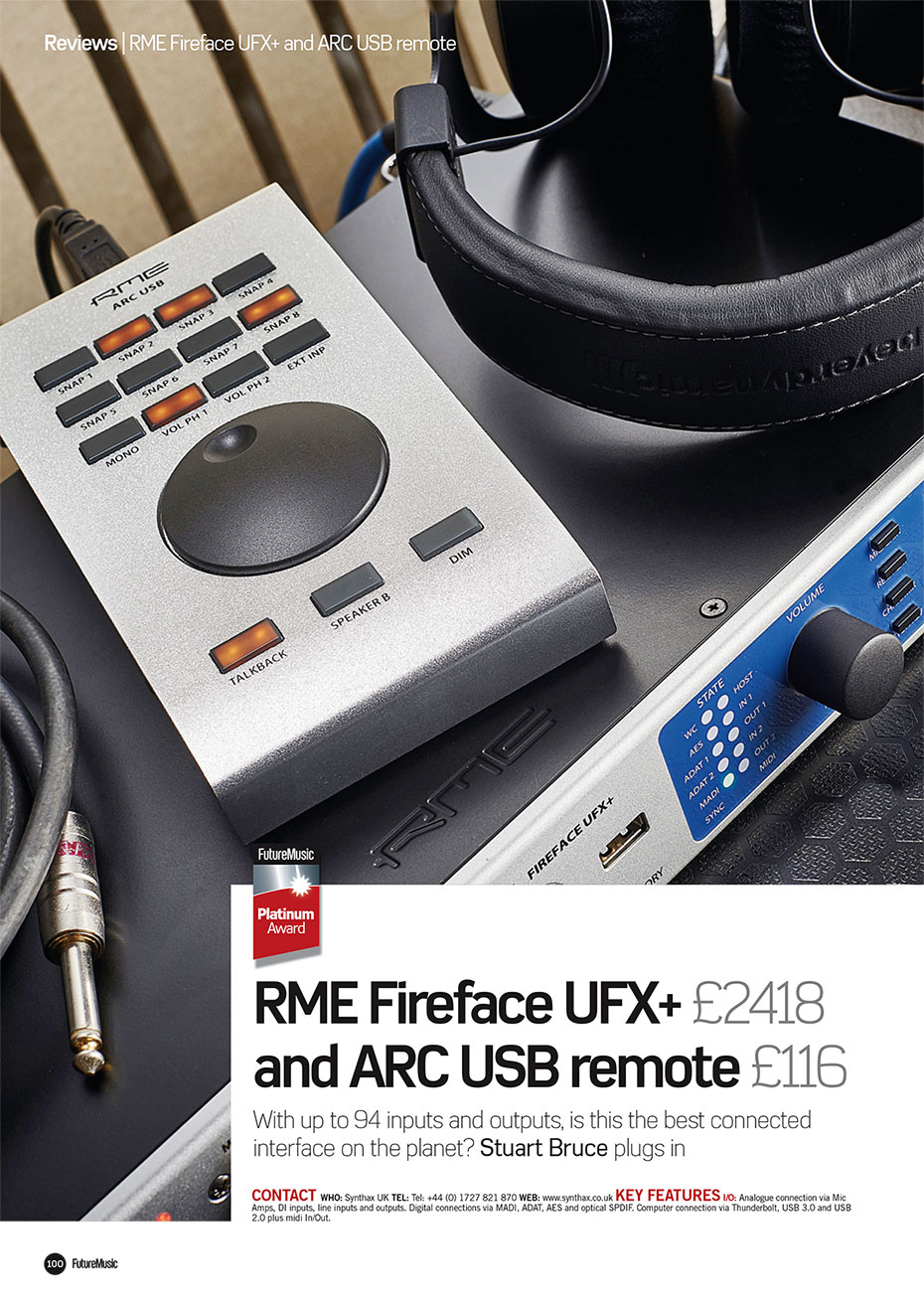 RME Fireface UFX+ Review - Future Music - Synthax Audio UK
