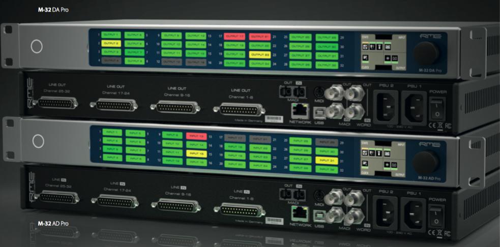 RME M-32 Pro Converters - AVB - Synthax Audio UK