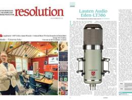 Lauten Audio Eden LT-386 Microphone - Resolution Magazine review - Synthax Audio UK