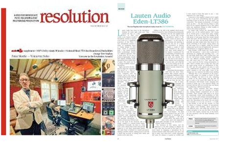 Lauten Audio Eden LT-386 Microphone - Resolution Magazine review - Synthax Audio UK
