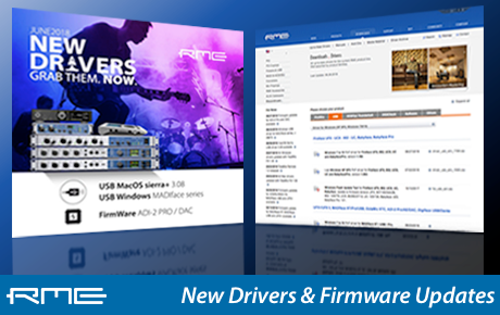 RME Audio - Driver Updates - July 2018 - Synthax Audio UK