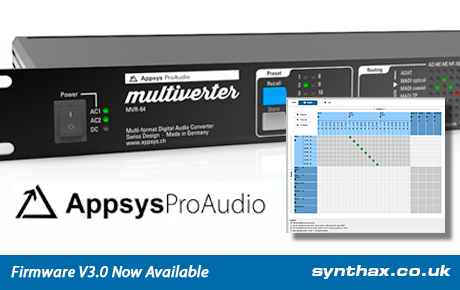 Appsys ProAudio Multiverter MVR-64 - Firmware V3.0 - Synthax Audio UK