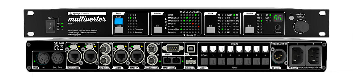 Appsys ProAudio Multiverter MVR-64 - Synthax Audio UK