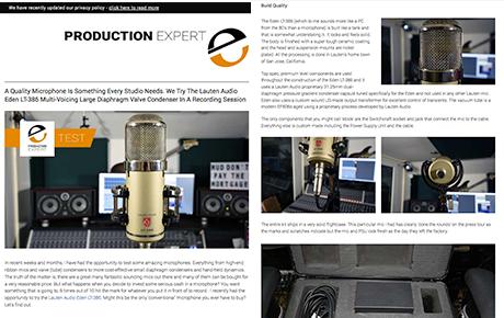 Lauten Audio Eden LT-386 Microphone review - Pro Tools Expert - Synthax Audio UK
