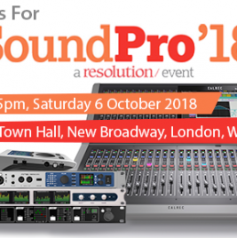 Join us at SoundPro 2018 - RME - Calrec - Ferrofish - Appsys - Synthax Audio UK