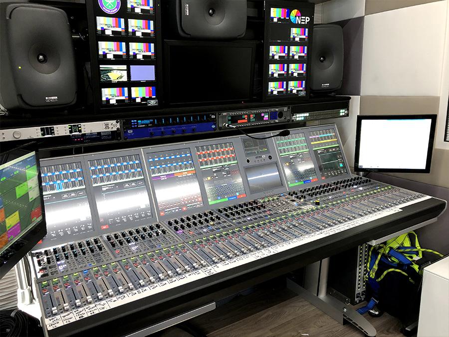 Calrec Artemis console - Wimbledon - 01 - Synthax Audio UK
