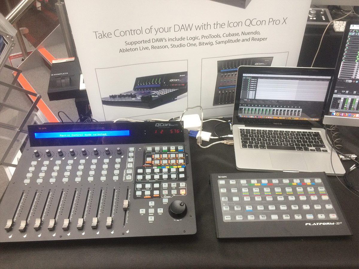 Icon QCon Pro G2 & Platform B+ - Absolute Music 2018 - Synthax Audio UK