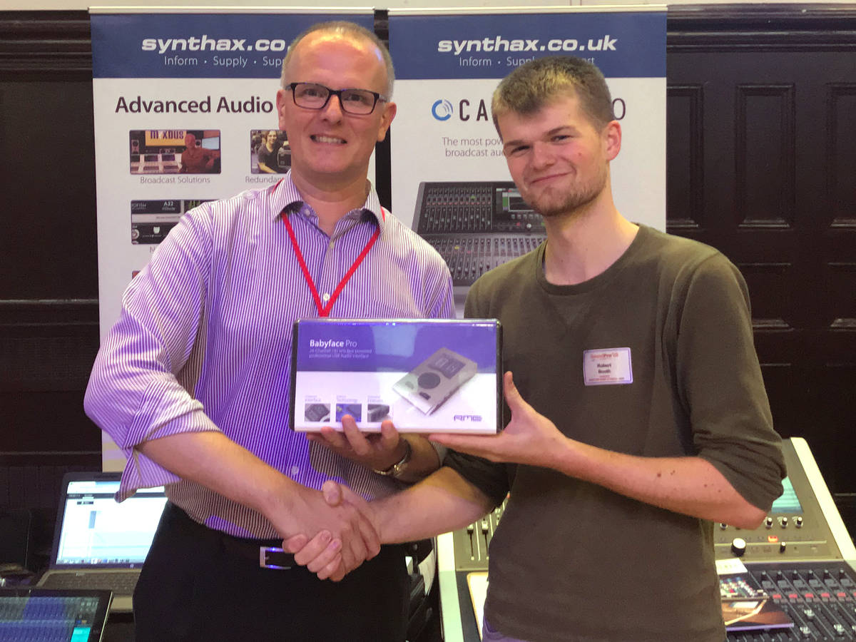 SoundPro 2018 - RME Babyface Pro Comp Winner - Robert Booth - Synthax Audio UK