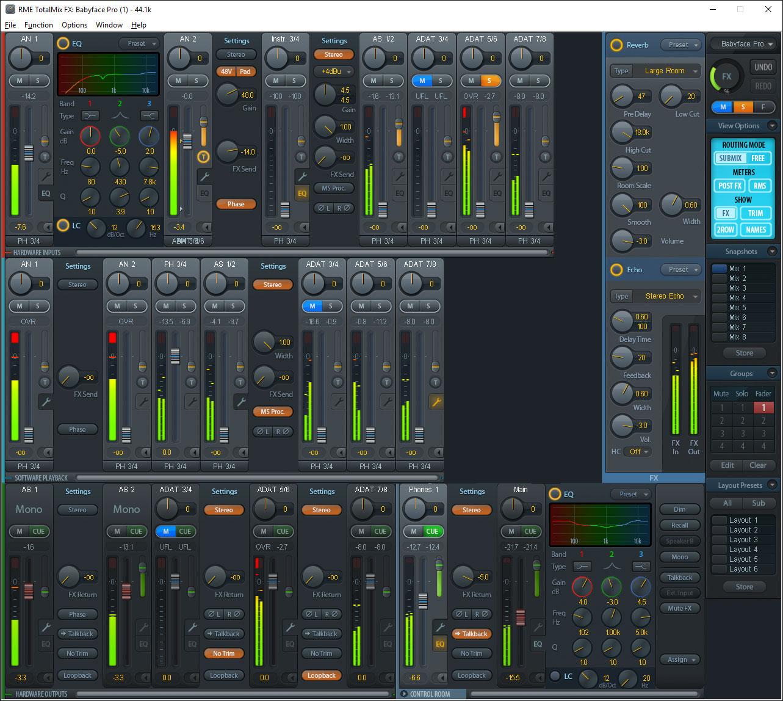 RME Babyface Pro - TotalMix FX - Synthax Audio UK