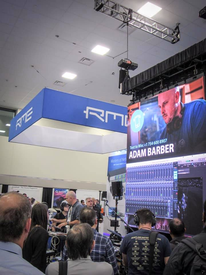 Adam Barber - RME Booth - NAMM 2019 - Synthax Audio UK