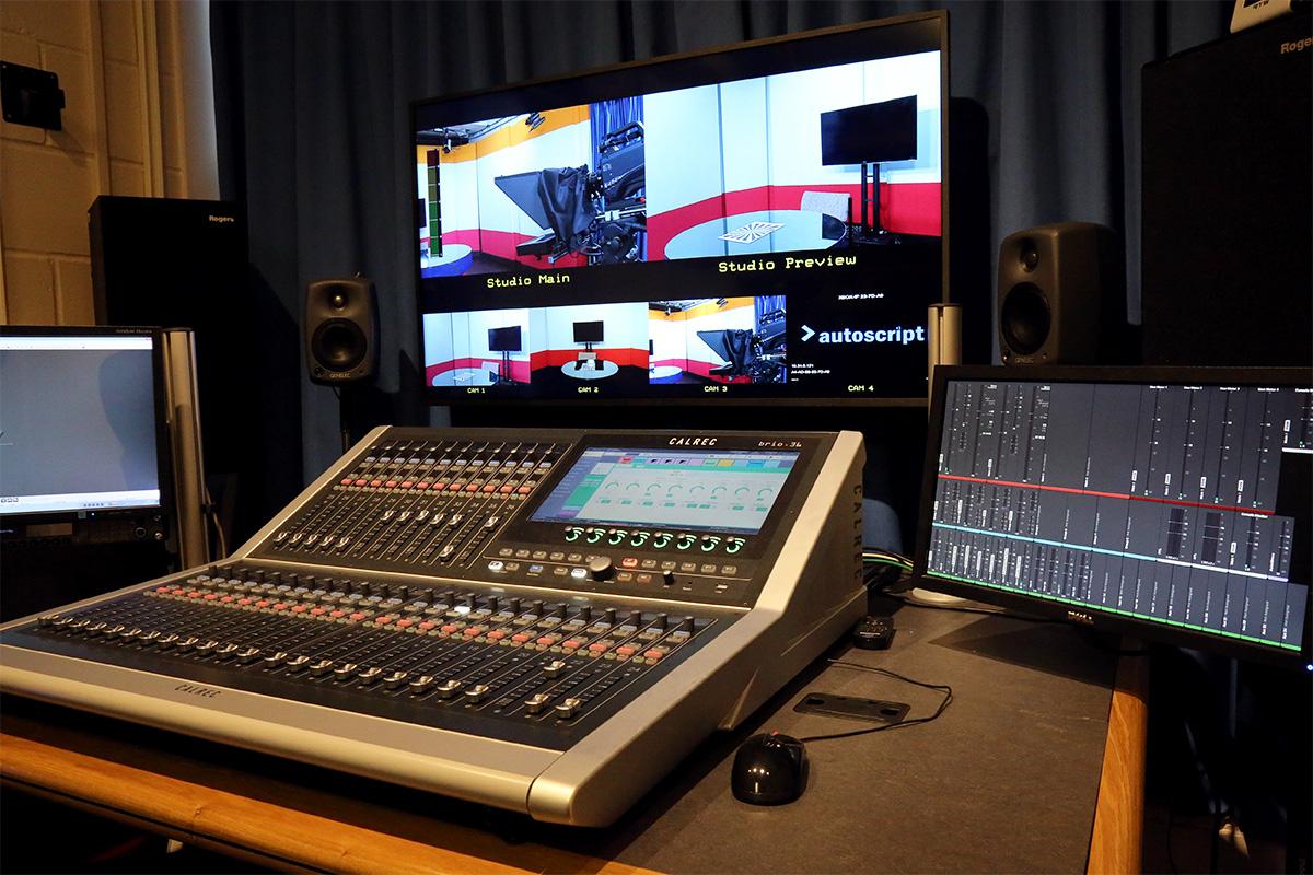 Calrec Brio audio console - University of Surrey - 01 - Synthax Audio UK