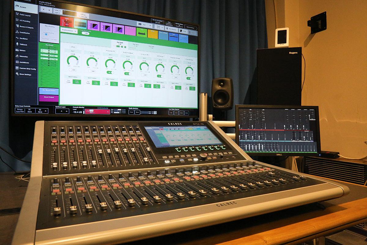 Calrec Brio audio console - University of Surrey - 02 - Synthax Audio UK