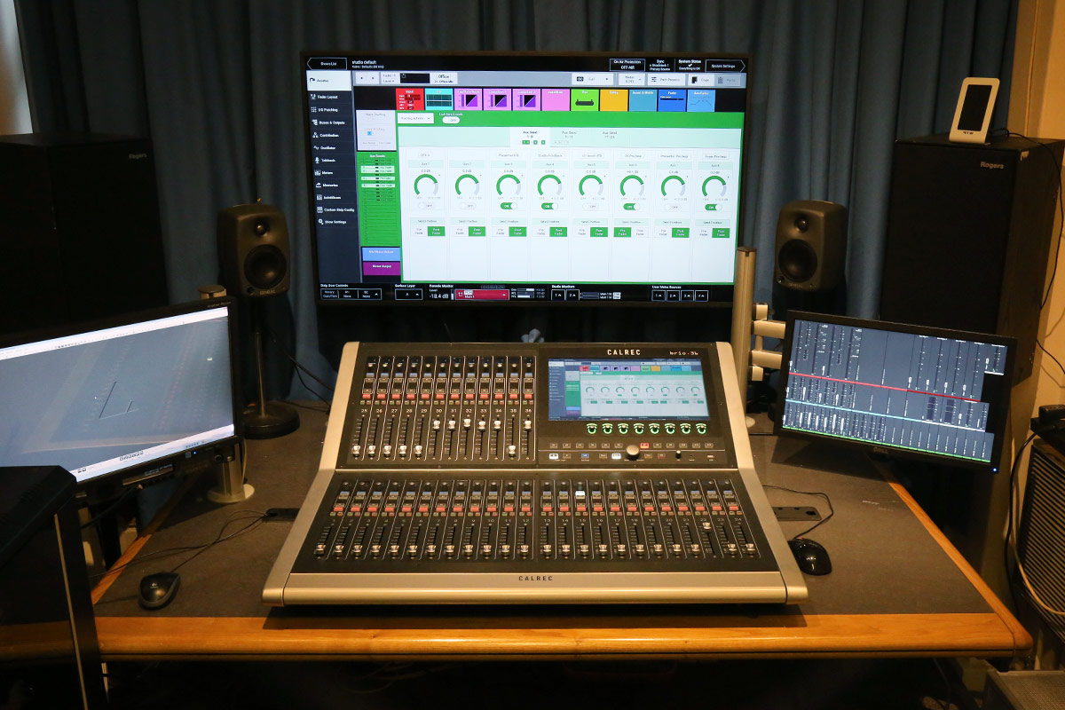 Calrec Brio audio console - University of Surrey - 03 - Synthax Audio UK