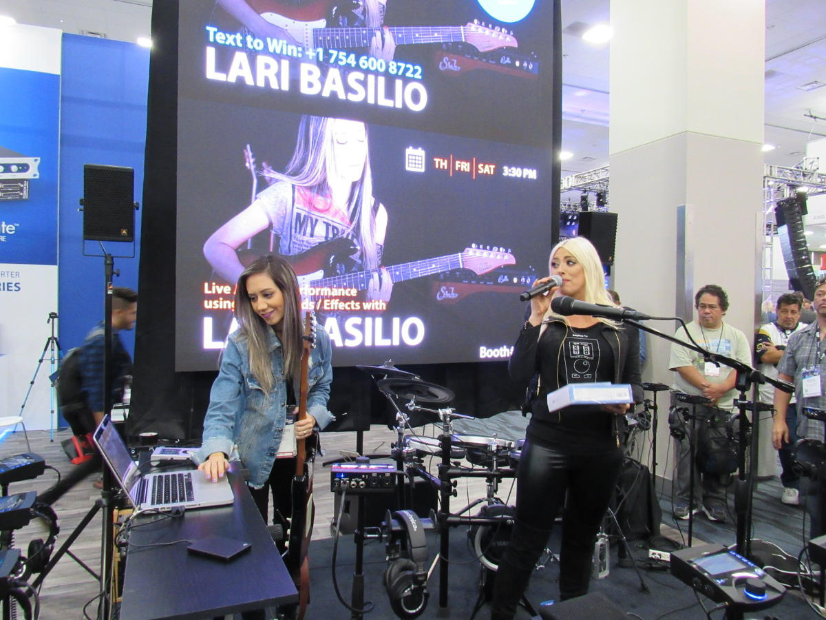 Lari Basilio - RME Booth - NAMM 2019 - Synthax Audio UK