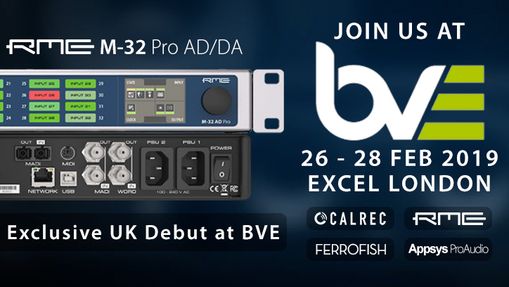 RME M-32 Pro Debut at BVE 2019 - Synthax Audio UK