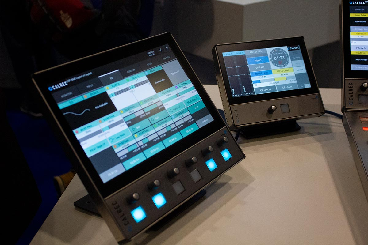 BVE 2019 - Calrec Type R Large Soft Panel - Synthax Audio UK