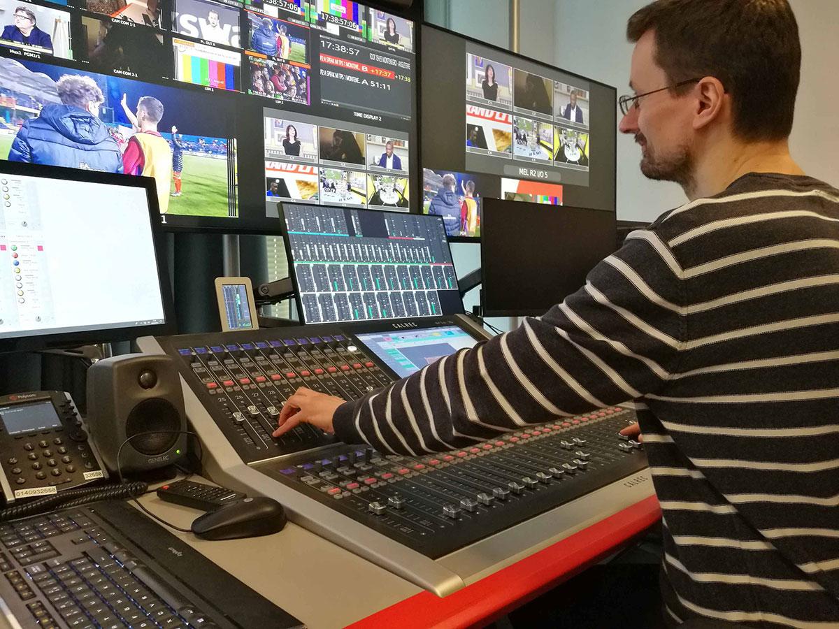 Calrec Brio 36 broadcast console - LEquipe - Synthax Audio UK
