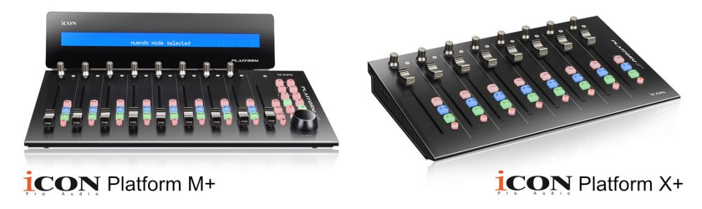 Icon Platform M+ and Platform X+ DAW Controllers - Synthax Audio UK