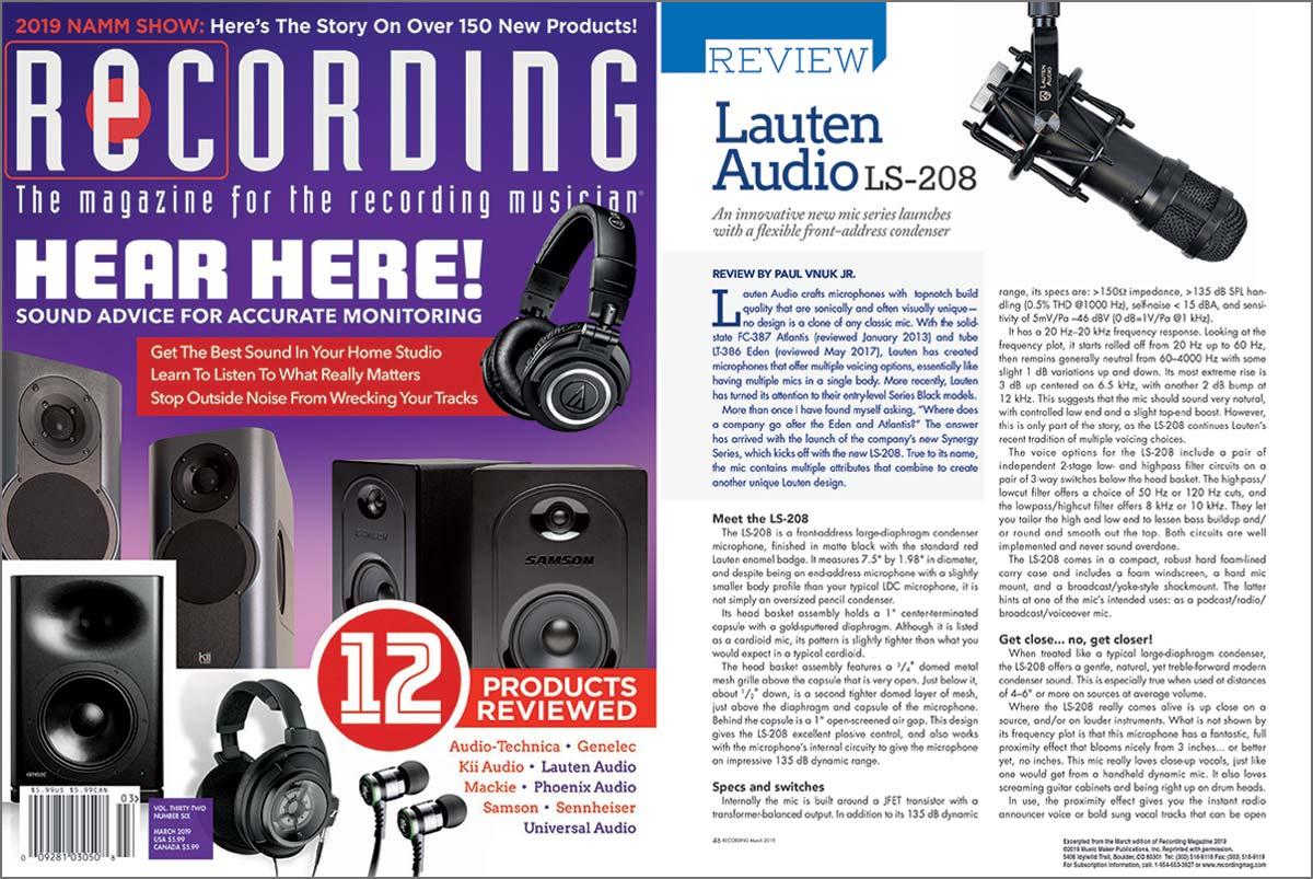 Lauten Audio LS-208 review by Recording Magazine