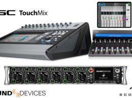 Icon Pro Audio Platform M+ - QSC Touchmix - Sound Devices Scorpio - Synthax Audio UK